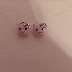 Pigs and Tiaras Earrings
